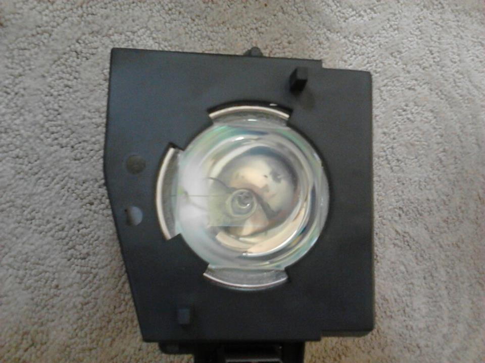 Beware of counterfeit lamps. This Toshiba lamp is poor quality. Notice the glass, it should be solid.